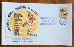 SPORT HANDBALL PALLAMANO  CAMPIONATO MONDIALE UNIVERSITARIO   TIMISOARA   ROMANIA  12/1/1975   ANNULLO FINALA FINALE - Pallamano