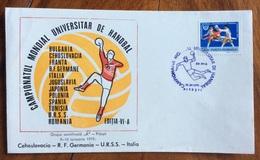 SPORT HANDBALL PALLAMANO  CAMPIONATO MONDIALE UNIVERSITARIO   TIMISOARA   ROMANIA  12/1/1975   ANNULLO SPECIALE - Pallamano