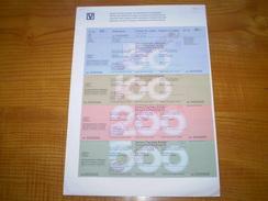 Suisse Francs: Travellers Cheque De 50, 100, 200 & 500 Francs Suisses De La Banque Populaire Suisse. Travellers Cheques - Non Classés
