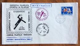 SPORT HANDBALL PALLAMANO  CAMPIONATO MONDIALE UNIVERSITARIO   TIMISOARA   ROMANIA  5/1/1975  ANNULLO BULGARIA-JAPONIA - Pallamano