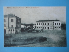 Boara Pisani - Piazza E Municipio - Riproduzione Cartolina D'epoca - Padova (Padua)