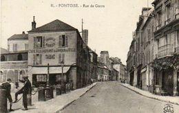 CPA - PONTOISE (95) - Aspect De La Rue De Gisors Et Du Restaurant Du Jardin De La Ville Dans Les Années 20 - Pontoise