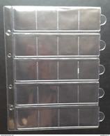 10 Pochettes à Tirettes (20 Cases)- NEUF / 10 Hoezen Met Rits (20 Vakken)- NIEUW - Matériel
