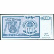 TWN - BOSNIA-HERZEGOVINA 135a - 100 Dinara 1992 Prefix AA UNC - Bosnia Erzegovina