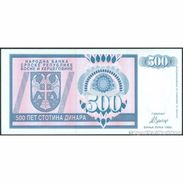 TWN - BOSNIA-HERZEGOVINA 136a - 500 Dinara 1992 Prefix AA UNC - Bosnie-Herzegovine