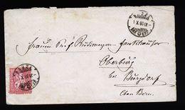 A4821) Schweiz Brief Von Basel 1.10.80 Nach Oberburg - 1862-1881 Sitzende Helvetia (gezähnt)