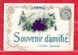 86-CPA AVAILLES LIMOUSINE - SOUVENIR D'AMITIE - Availles Limouzine