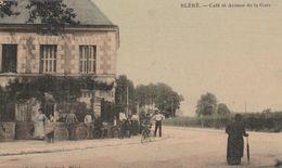 37 BLERE CAFE ET AVENUE DE LA GARE - Bléré