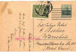 CPA N°7036 - CARTE PAPIER AVEC JOLIS TIMBRES - 1916 - Allemagne