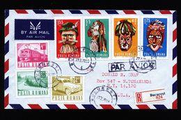 A4823) Romania Rumänien R-Brief 27.2.1970 Nach US - 1948-.... Républiques