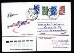 A4824) Olympia 1980 Moskau Ganzsache-Umschlag Nach Deutschland - Sommer 1980: Moskau