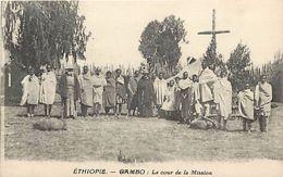 Ref V169- Ethiopie - Gambo - La Cour De La Mision  - Carte Bon Etat - - Ethiopie