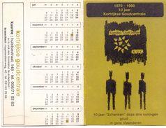 Kalender Calendrier 1981 - Pub Reclame - 10 Jaar Goudcentrale Kortrijk - Calendriers