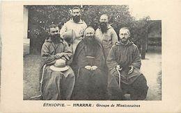 Ref V161- Ethiopie - Harrar - Groupe De Missionnaires   - Carte Bon Etat - - Ethiopie
