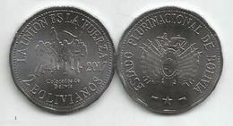 Bolivia 2 Bolivianos 2017. UNC Colorados De Bolivia - Bolivia