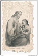 Image Pieuse XIXème Canivet Dentelle Bouasse Lebel Agréez Mon Offande Ô Jésus - Images Religieuses