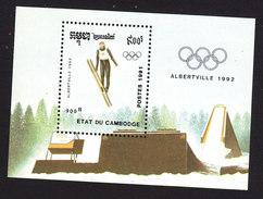 Cambodia, Scott #1133, Mint Hinged, Olympics, Issued 1991 - Cambodge