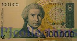 CROATIA 100000 DINARA 1993 PICK 27a UNC - Croatia