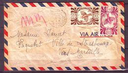 """NOUVELLE CALÉDONIE - Lettre De Nouméa Pour Le Paquebot """"Ville De Strasbourg"""" Vers Marseille - 1948 - Nueva Caledonia"""