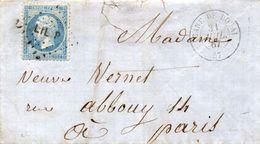 Nord - LSC Affr N° 22 Obl Losange Ambulant LIL P - C 15 Gare De Douai - Marcophilie (Lettres)