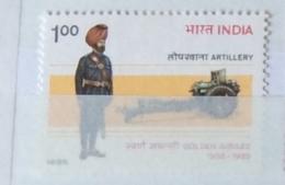 India 1985 Sg 1150 50th Anniv  Artillery  Regiment  Mnh - Inde