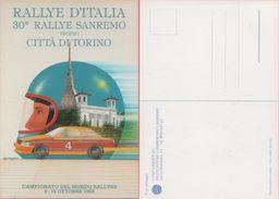 Cartolina - Rallye D'Italia. 30° Rallye Sanremo. 3/15 Ottobre 1988 - Cartoline