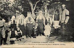 Ref V145- Macedoine - Guerre 1914-18- Paysannes De Macedoine En Costume De Fetes A Bukovo -serbie - - Macedonia