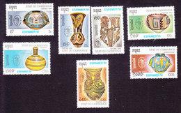 Cambodia, Scott #1159-1165, Mint Hinged, Pottery, Issued 1991 - Cambodia