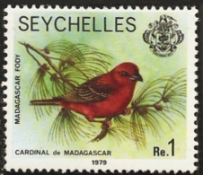 Seychelles 1979 Madagascar Fody 1 Value MNH  - Madagascar Cardinal - Oiseaux