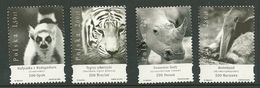 POLAND MNH ** 3955-3958 Mati Catta Tigre De Sibérie Rhinocéros Fourmillier Zoo D'Opole Wroclaw Poznan Varsovie - 1944-.... Republic