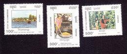 Cambodia, Scott #1183-1185, Mint Hinged, Industry Of Cambodia, Issued 1991 - Cambodge