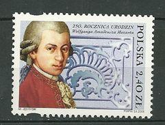 POLAND MNH ** 3972 Wolfgang Amadeus Mozart Musique Musicien Compositeur - 1944-.... République