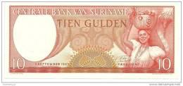 Suriname 10 Gulden 1963 UNC - Surinam