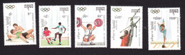 Cambodia, Scott #1189-1193, Mint Hinged, Olympics, Issued 1992 - Cambodge