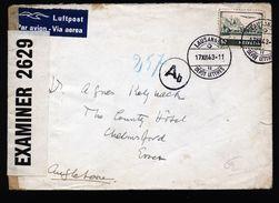 A4830) Schweiz Luftpostbrief Von Lausanne 17.12.43 Nach UK Zensur - Schweiz