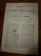 1882 JOURNAL DES DEMOISELLES :Mme De Staal De Launay;Economie Domestique;Correspondance;Revue Musicale; Poème LA FLEUR - Vieux Papiers