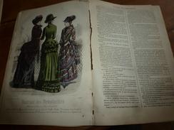 1882 JOURNAL DES DEMOISELLES :Gravures De La Mode De Paris ;Les Fleurs étranges;Economie ;Revue Musicale;Correspondance - Chromos