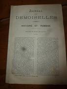 1882 JOURNAL DES DEMOISELLES : Mme De Staal; L'HIRONDELLE Par Sully-Prudhomme; Revue Musicale;Correspondance;etc - Chromos