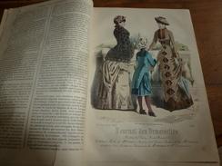 1882 JOURNAL DES DEMOISELLES : Gravures De La Mode De Paris ;Fleurs étranges; Porte-Bonheur Et Porte-Veine; Etc - Chromos