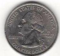 UNITED STATES 1/4 DOLLAR 2001 KM# 320 CIRC. RHODE ISLAND WASHINGTON QUARTER  [US-0320-2001] - 1999-2009: State Quarters