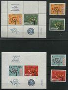 1962 Europeistici, Paraguay La Serie Dentellata E Non Con I Due Foglietti, Serie Completa Nuova (**) - European Ideas