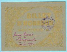 BILLET D'HONNEUR SCOLAIRE JUIN 1953 ECOLE DE FILLES PANTIN 93 - Diploma & School Reports