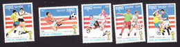 Cambodia, Scott #1203-1207, Mint Hinged, Soccer, Issued 1992 - Cambodja