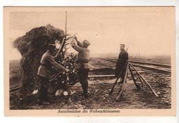 Nr.  9112,  Ausschmücken Des Weihnachtsbaumes An Der Warschauer Eisenbahnstrecke - War 1914-18