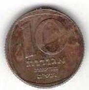 ISRAEL 10 NEW AGOROT 1980 KM# 108 CIRC. [IL-0108-1980] - Israel