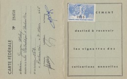 Carte Fédération Sociétés Philatéliques -  Aubervilliers 1965 - Cartes