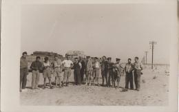 Militaria - Carte-photo Convoi Marchandises Désert - 1940 - Guerra 1939-45
