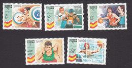 Cambodia, Scott #1224-1228, Mint Hinged, Olympic, Issued 1992 - Cambodge