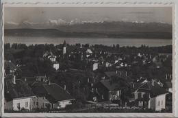 Colombier - Vue Generale Er Les Alpes - Photo: Perrochet - NE Neuchâtel