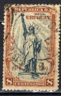 URUGUAY - 1919 - STATUA DELLA LIBERTA'- PORTO DI NEW YORK - USATO - Uruguay